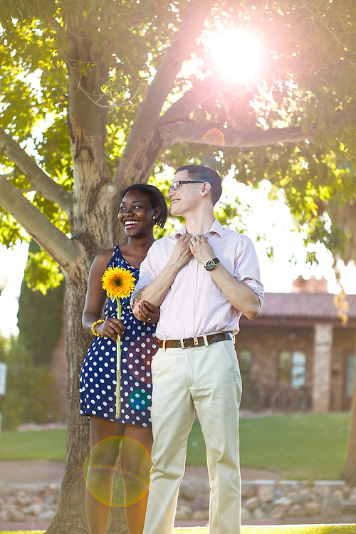 Mathew and Kenthea celebrate their engagement with a boulder city photoshoot at the park