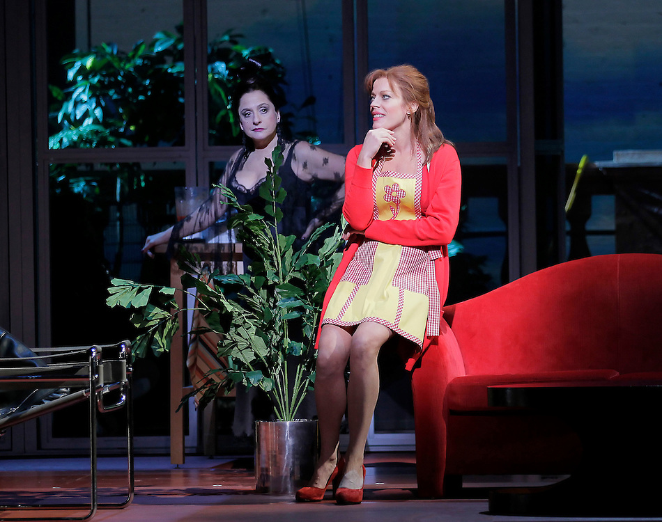 "Patti Lupone and Sherie Rene Scott  in .""WOMEN ON THE VERGE OF A NERVOUS BREAKDOWN"".Lincoln Center Theater Production.Credit photo: ©Paul Kolnik.paul@paulkolnik.com.nyc  212-362-7778"