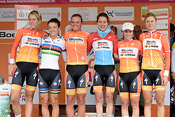 Boels Dolmans win the team classification at the 119 km Stage 6 of the Boels Ladies Tour 2016 on 4th September 2016 from Bunde to Valkenburg, Netherlands. (Photo by Sean Robinson/Velofocus).