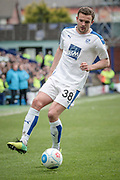 James Wallace (Tranmere Rovers) controls the ball during the Vanarama National League second leg play off match between Tranmere Rovers and Aldershot Town at Prenton Park, Birkenhead, England on 6 May 2017. Photo by Mark P Doherty.