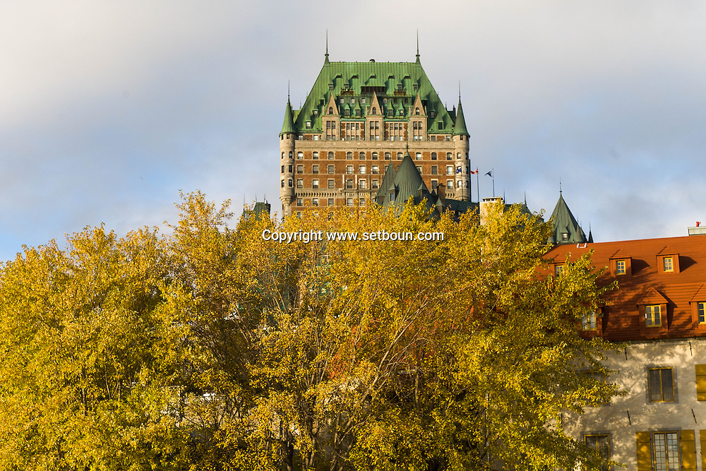Canada. Quebec. The Chateau Frontenac , Fairmont hotel in the old city   / le chateau Frontenac, hotel Fairmont. dans la vielle ville