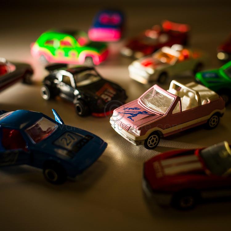 Maleta de colección autos a escala majorette. Copec, 80 años. Santiago de Chile. {date} (©Alvaro de la Fuente/Triple.cl)