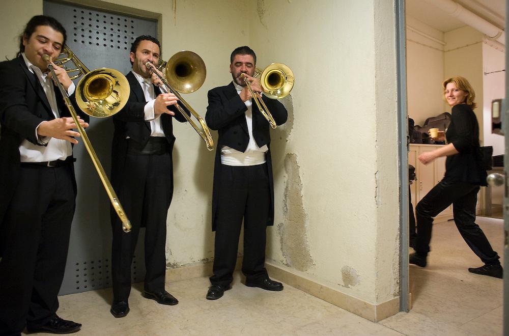 "Backstage at the production of ""La Boheme"". São Carlos National Opera House in Lisbon, 2009"