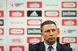 Bristol City Manager Derek McInnes (SCO) faces fans questions during the clubs Annual Supporters Meeting held in the AMC Communications Lounge - Photo mandatory by-line: Rogan Thomson/JMP - Tel: Mobile: 07966 386802 06/12/2012 - SPORT - FOOTBALL - Ashton Gate - Bristol - Club AGM.