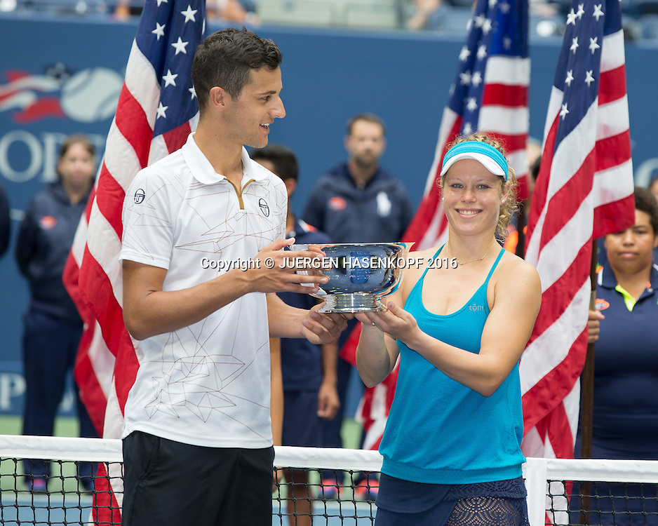 LAURA SIEGEMUND (GER) und MATE PAVIC (CRO), Mixed Doubles Final<br /> <br /> Tennis - US Open 2016 - Grand Slam ITF / ATP / WTA -  USTA Billie Jean King National Tennis Center - New York - New York - USA  - 9 September 2016.