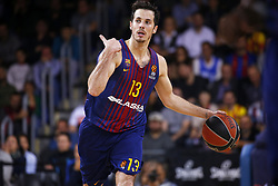 December 8, 2017 - Barcelona, Catalonia, Spain - Thomas Heurtel during the match between FC Barcelona v Fenerbahce corresponding to the week 11 of the basketball Euroleague, in Barcelona, on December 08, 2017. (Credit Image: © Urbanandsport/NurPhoto via ZUMA Press)