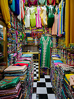 CASABLANCA, MOROCCO - CIRCA APRIL 2018: Store around the Bazar Habous Market in Casablanca.