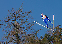 Michael Neumayer of Germany soars through the air during the Ski Flying Individual Qualification at Day 1 of FIS World Cup Ski Jumping Final, on March 19, 2015 in Planica, Slovenia. Photo by Vid Ponikvar / Sportida