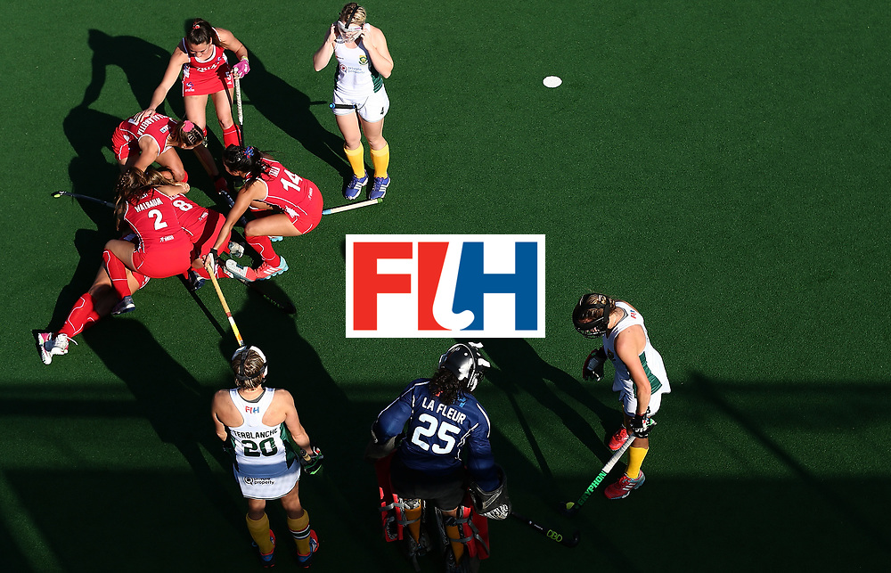 JOHANNESBURG, SOUTH AFRICA - JULY 14:  Manuela Urroz of Chile celebrates her goal with team mates during day 4 of the FIH Hockey World League Semi Finals Pool B match between Chile and South Africaat Wits University on July 14, 2017 in Johannesburg, South Africa.  (Photo by Jan Kruger/Getty Images for FIH)