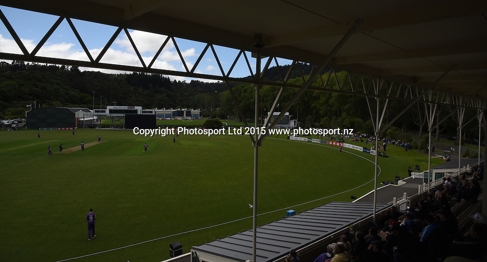 Georgie Pie Super Smash Twenty20 cricket match between the Otago Volts v Canterbury Kings held at the University Oval, Dunedin. 29 November 2015.