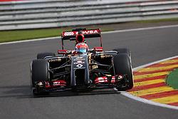 22.08.2014, Circuit de Spa, Francorchamps, BEL, FIA, Formel 1, Grand Prix von Belgien, Training, im Bild Romain Grosjean (Lotus F1 Team/Renault) // during the Practice of Belgian Formula One Grand Prix at the Circuit de Spa in Francorchamps, Belgium on 2014/08/22. EXPA Pictures &copy; 2014, PhotoCredit: EXPA/ Eibner-Pressefoto/ Bermel<br /> <br /> *****ATTENTION - OUT of GER*****