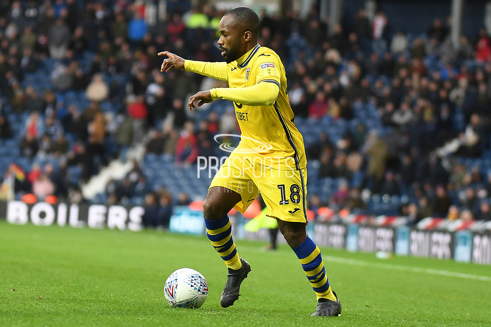 Swansea City forward Aldo Kalulu (18) sprints forward with the ball during the EFL Sky Bet Championship match between West Bromwich Albion and Swansea City at The Hawthorns, West Bromwich, England on 8 December 2019.