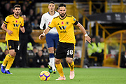 Wolverhampton Wanderers midfielder Joao Moutinho (28) during the Premier League match between Wolverhampton Wanderers and Tottenham Hotspur at Molineux, Wolverhampton, England on 3 November 2018.