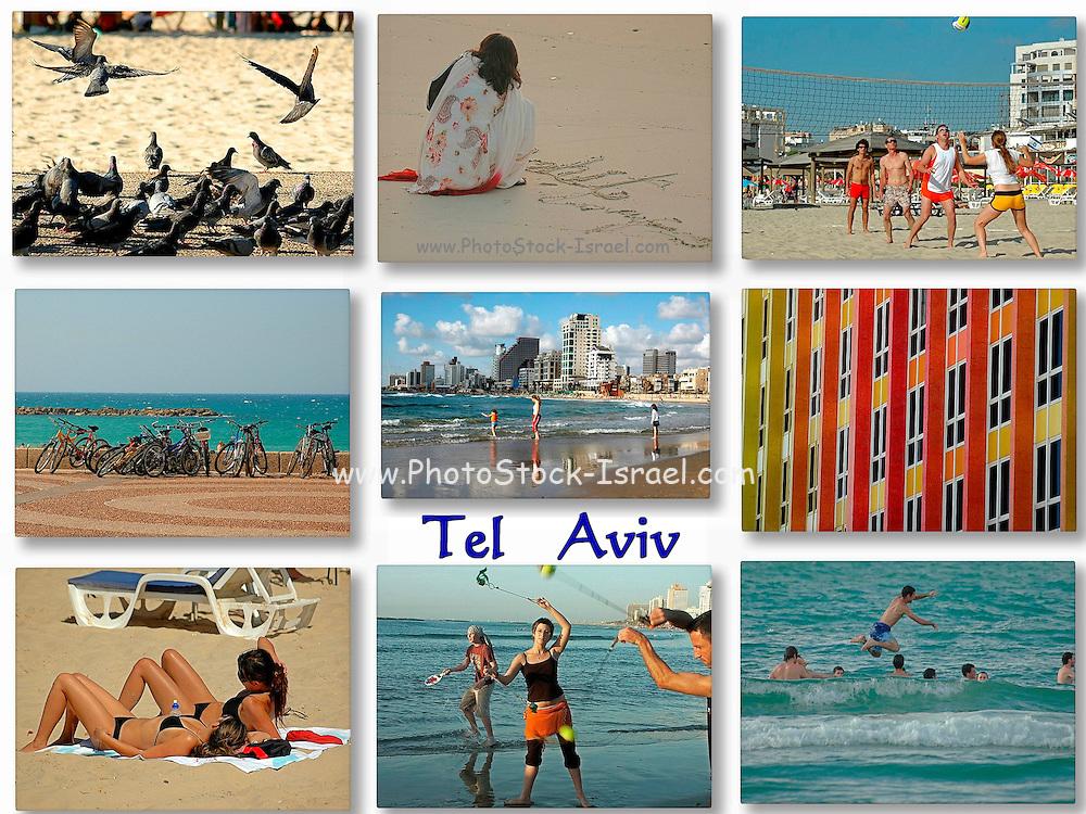 9 image Collage of Tel Aviv, Israel