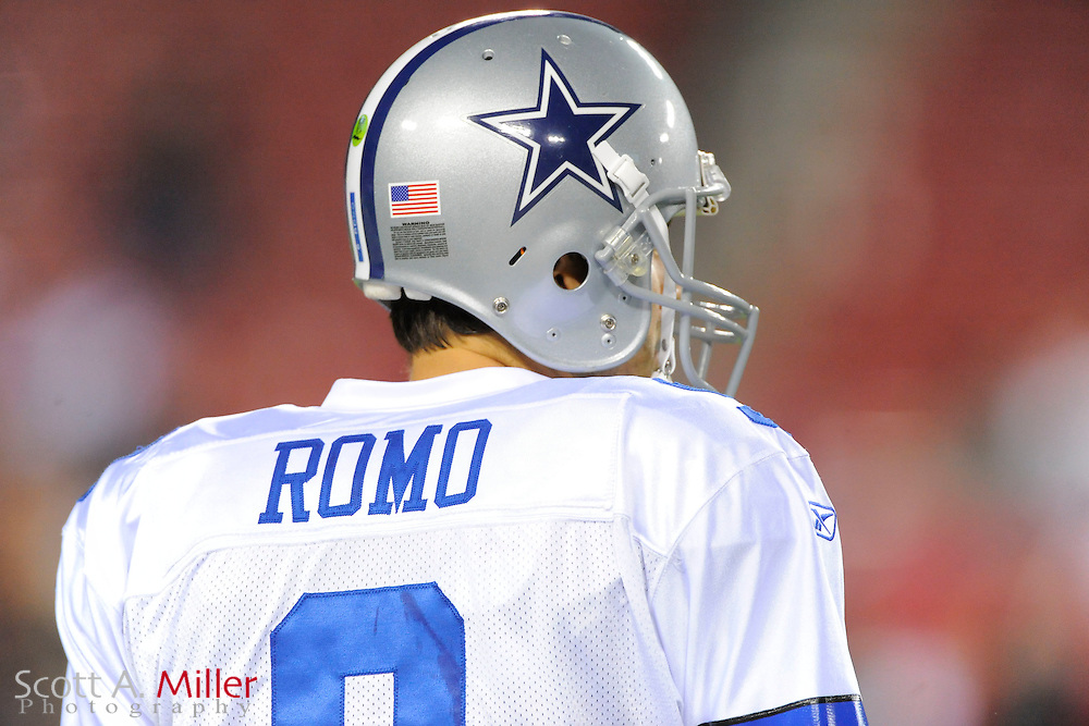 Dallas Cowboys quarterback Tony Romo (9) in action against the Tampa Bay Buccaneers at Raymond James Stadium on Dec. 17, 2011 in Tampa, Fla. ..(SPECIAL TO FOXSPORTS.COM/Scott A. Miller)