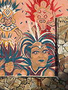 Mural on a Bahamanian restaurant in Miami's Buena Vista West neighborhood just north of Wynwood