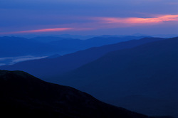Dawn as seen from Lion Head.  Looking northeast.  White Mountains National Forest. Mt. Washington, NH