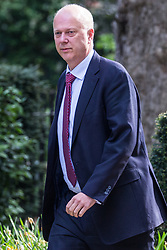 London, UK. 30th April 2019. Chris Grayling MP, Secretary of State for Transport, arrives at 10 Downing Street for a Cabinet meeting.