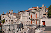 View of a part of the historic city of Arles, southern France.