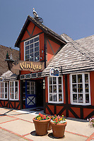 Vinhus Retail Store in a Danish Half-Timbered House Architecture Style Structure, Solvang, California