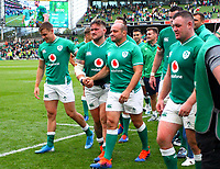 Rugby Union - 2019 pre-Rugby World Cup warm-up (Guinness Summer Series) - Ireland vs. Wales<br /> <br /> Rory Best (c) (Ireland) leaves the pitch with his team mates at The Aviva Stadium.<br /> <br /> COLORSPORT/KEN SUTTON