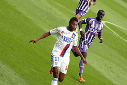 Brazilian defender Michel Bastos attacks for Lyon just before being sent off. Toulouse v Lyon (2-0), Ligue 1, Stade Municipal, Toulouse, France, 1st May 2011.