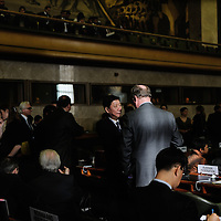 Conference on Disarmament. Year 33, 2012 Session 1, Plenary meeting 1253. Presidency of Eqypt<br /> <br /> Discussion between the Chinese Ambassador to the Conference Wu Haitao and Russian representative Victor Vasiliev. The formal record of this meeting has not been published.
