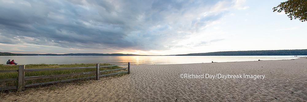64795-01513 Sunset on South Bay, Lake Superior, Munising, Upper Peninsula, MI