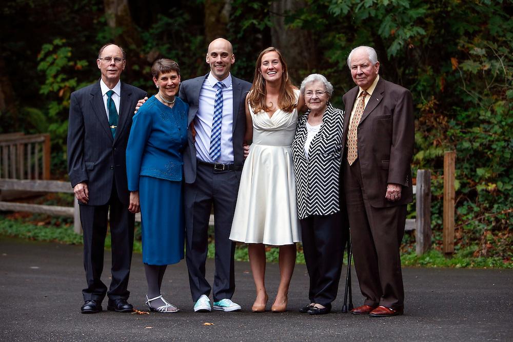 Wedding of Annie Bauer and Ken Ferrier at Camp Colman in Longbranch, Wash.