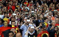 Belgium supporters taking photos and videos by smartphone. tifosi con cellulare<br /> Lille 01-07-2016 Stade Pierre Mauroy Football Euro2016 Wales - Belgium / Galles - Belgio <br /> Quarter-finals. Foto Matteo Ciambelli / Insidefoto