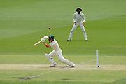 16th December 2018, Optus Stadium, Perth, Australia; International Test Series Cricket, Australia versus India, second test, day 3; Marcus Harris of Australia plays through the gully region during Australias second innings