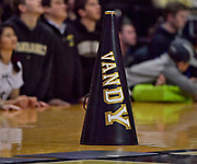 Vanderbilt Commodores cheerleaders megaphone sets on the side court during the second half of a NCAA college basketball game between the Vanderbilt Commodores and the Alcorn State Braves in Nashville, Tenn., Friday, Nov 16, 2018. Vanderbilt won 79-54. (Jim Brown/Image of Sport)