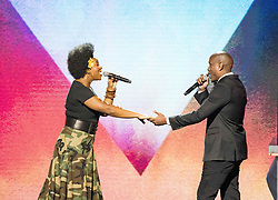 August 6, 2017 - New Jersey, U.S - INDIA ARIE, and TYRESE, performing at the 2017 Black Girls Rock awards show. Black Girls Rock 2017 was held at the New Jersey Performing Arts Center in Newark New Jersey. (Credit Image: © Ricky Fitchett via ZUMA Wire)
