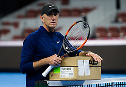 September 28, 2018 - Darren Cahill during practice at the 2018 China Open WTA Premier Mandatory tennis tournament (Credit Image: © AFP7 via ZUMA Wire)