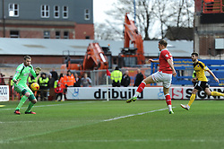 Caption Correction. Bristol City's Matt Smith scores a goal. - Photo mandatory by-line: Dougie Allward/JMP - Mobile: 07966 386802 - 14/02/2015 - SPORT - Football - Bristol - Ashton Gate - Bristol City v Sheffield United - Sky Bet League One
