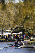 Boston, Massachusetts,  looking down the course, from the vendors area, at crews boat and other move  down to the start, during the Forty Second, [42nd] Head of the Charles, 22/10/2006.  Photo  Peter Spurrier/Intersport Images...[Mandatory Credit, Peter Spurier/ Intersport Images] Rowing Course; Charles River. Boston. USA