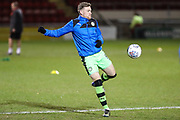 Forest Green Rovers Dayle Grubb(8) warming up during the EFL Sky Bet League 2 match between Crewe Alexandra and Forest Green Rovers at Alexandra Stadium, Crewe, England on 20 March 2018. Picture by Shane Healey.