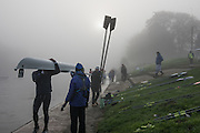 Boston, United Kingdom, The Sun burning of the mist as the crews prepare to get on the water for the  GB Rowing Team October 5km Time Trial, on Sunday  01/11/2015  River Witham,  Lincolnshire <br /> <br /> [Mandatory Credit: Peter SPURRIER: Intersport Images]