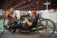 The Cycling Show at The Excel Centre opened today it is part of the Prudential RideLondon Festival in London.<br /> Elizabeth Mailey and Jonathan Rowland from the blood cancer research, blood wise charity on the Prudential Ride London stand.<br /> <br /> Photo: Jed Leicester/Silverhub for Prudential RideLondon<br /> <br /> Prudential RideLondon is the world's greatest festival of cycling, involving over 100,000+ cyclists – from Olympic champions to a free family fun ride - riding in events over closed roads in London and Surrey over the weekend of 28th to 30th July 2017. <br /> <br /> See www.PrudentialRideLondon.co.uk for more.<br /> <br /> For further information: media@londonmarathonevents.co.uk