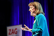 "Professor Deborah Nieding speaks at the first Zag Talk about ""The Power of Risk"" at the W Hotel in Seattle on Gonzaga Day, Feb 13, 2016. (Photo by Erika Schultz)"