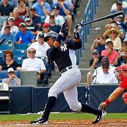 March 11, 2012; Tampa Bay, FL, USA; New York Yankees third baseman Alex Rodriguez (13) against the Philadelphia Phillies during a spring training game at George M. Steinbrenner Field. Mandatory Credit: Derick E. Hingle-US PRESSWIRE