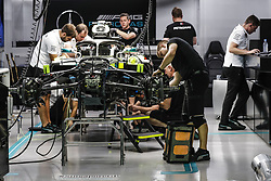 September 14, 2018 - Singapore, Singapore - Motorsports: FIA Formula One World Championship 2018, Grand Prix of Singapore, .Mechanics working on the  Mercedes AMG F1 Petronas GP W09 Hybrid EQ Power+ (Credit Image: © Hoch Zwei via ZUMA Wire)