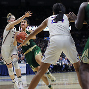 STORRS, CONNECTICUT- NOVEMBER 17: Natalie Chou #24 of the Baylor Bears drives to the basket while defended by Katie Lou Samuelson #33 of the UConn Huskies during the UConn Huskies Vs Baylor Bears NCAA Women's Basketball game at Gampel Pavilion, on November 17th, 2016 in Storrs, Connecticut. (Photo by Tim Clayton/Corbis via Getty Images)
