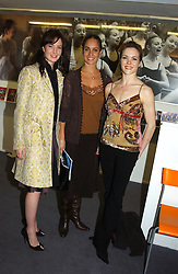 Left to right, Royal Ballet dancers LAUREN CUTHBERTSON, FRANCESCA FILPI and VANESSA PALMER at a performance by the London Childrens Ballet of 'The Little Princess' at The Peacock Theatre, Portugal Street, London WC2 on 19th May 2005.<br />