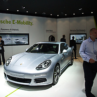 Porsche S e-hybrid at the IAA 2013, Frankfurt, Germany