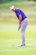 Ian Poulter (ENG) putts on the 2nd hole during the final round of the Aberdeen Standard Investments Scottish Open at The Renaissance Club, North Berwick, Scotland on 14 July 2019.