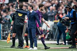 (L-R) coach Jean Paul de Jong of FC Utrecht, Mateusz Klich of FC Utrecht during the Dutch Eredivisie match between Feyenoord Rotterdam and FC Utrecht at the Kuip on April 15, 2018 in Rotterdam, The Netherlands