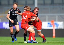 Max Bodilly of Exeter Braves is tackled - Mandatory by-line: Nizaam Jones/JMP - 22/04/2019 - RUGBY - Sandy Park Stadium - Exeter, England - Exeter Braves v Saracens Storm - Premiership Rugby Shield