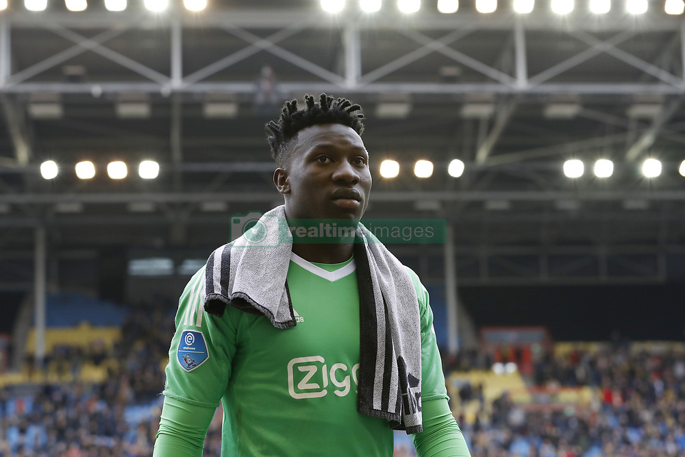 goalkeeper Andre Onana of Ajax during the Dutch Eredivisie match between Vitesse Arnhem and Ajax Amsterdam at Gelredome on March 04, 2018 in Arnhem, The Netherlands
