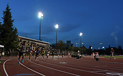May 3, 2018; Stanford, CA, USA; Runners at the start of the 800m during the Payton Jordan Invitational at Cobb Track &  Angell Field.